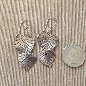 Sundance Catalog leaf drop earrings
